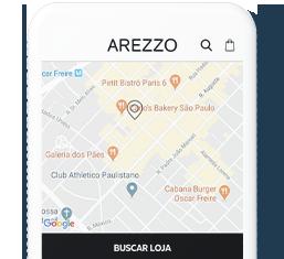 App Arezzo | Procure pela loja mais próxima
