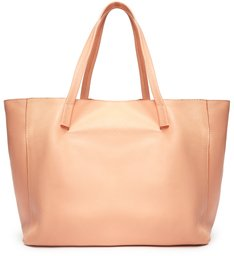 Bolsa Shopping de Couro Maxi Bag Laranja Fio