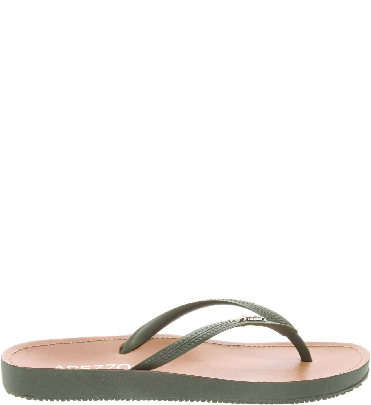 Chinelo Beach Chic Soft Army  | Arezzo