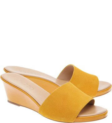 Mule Suede Anabela Curry