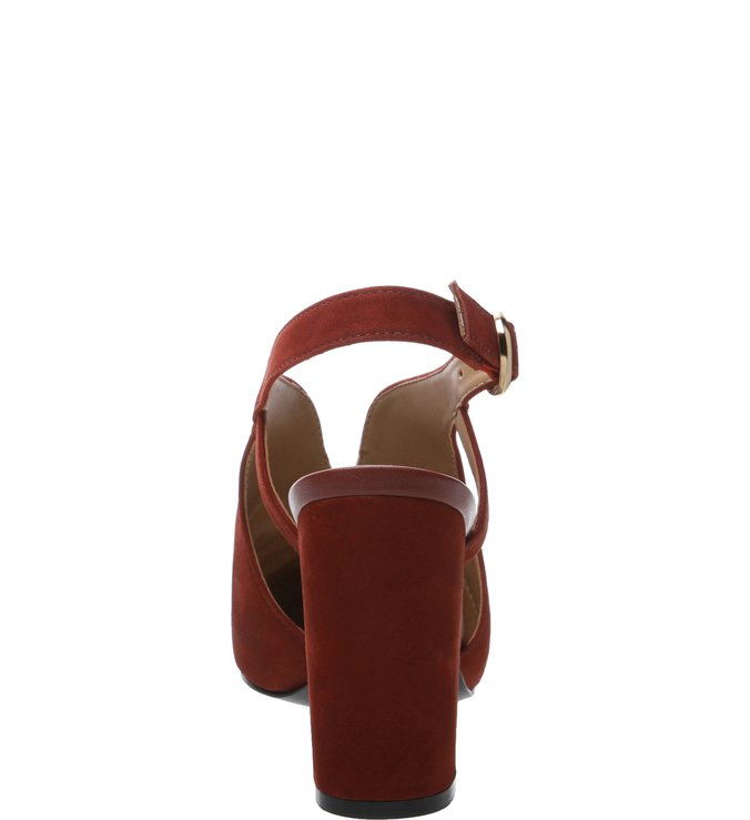 Sandal Boot Nobuck Salto Alto Recortes Berry