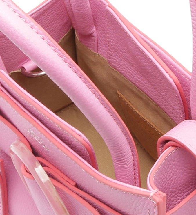 [ELE VOLTOU] Bolsa Tote Couro Allegra Média Baby Pink