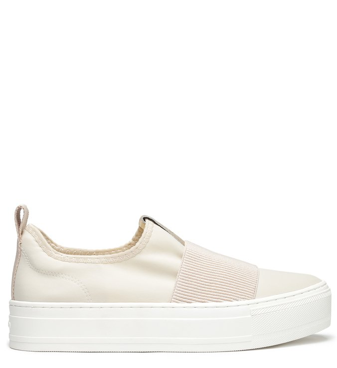 Slip On Off White Sola Alta Elástico