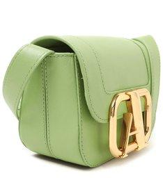 Bolsa Tiracolo Verde Couro Pequena Speciale