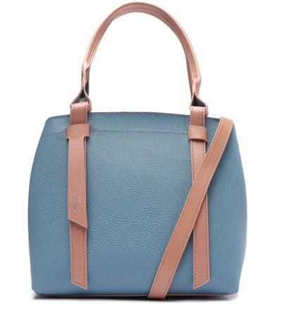 Bolsa Tote Azul Renata Média Rosé