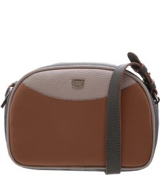 Bolsa Tiracolo Bianca Pequena Natural Tan, Latte e City Army