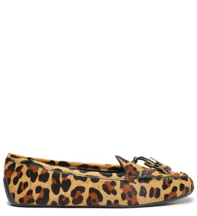Mocassim Animal Print Pelo Barbicacho