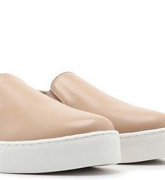 Tênis Slip On Couro Nappa Light Cream