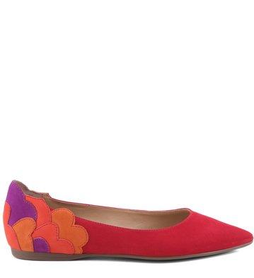 Sapatilha Flower Color Scarlet