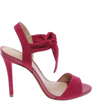 Sandália Nobuck Alta Top Knoted Pink | Arezzo