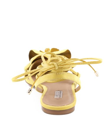 Rasteira Lace Up Flor Sol