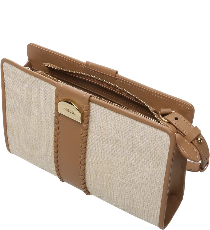 Clutch Pequena Giulia Neutro/Natural Tan