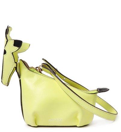 Bag Charm Verde Couro Zuri