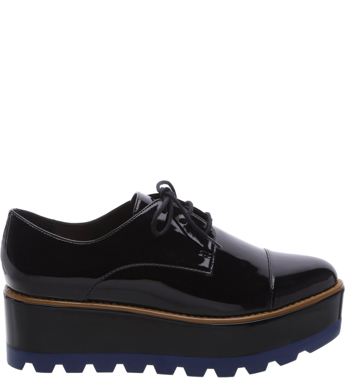 Oxford Plataforma Preto Color Line Blue | Arezzo