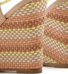 Sandália Plataforma Amarração Cordão Gergelim