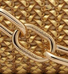 Clutch Dourada Tressê Florença Média