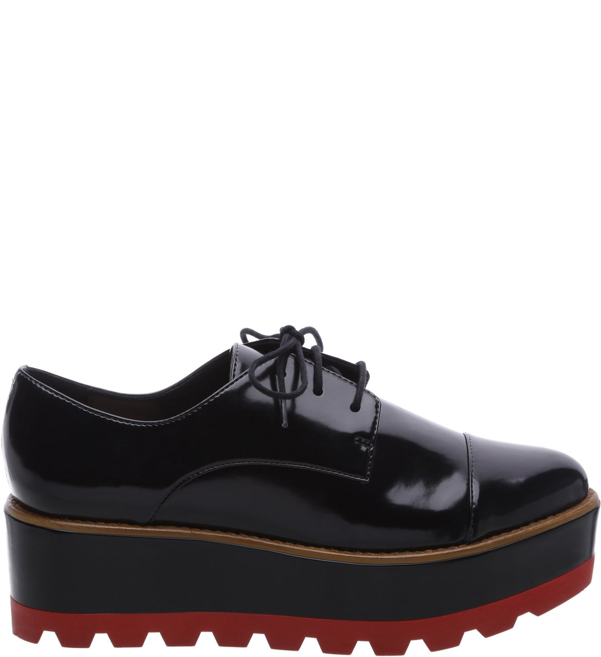 Oxford Plataforma Preto Color Line Red | Arezzo