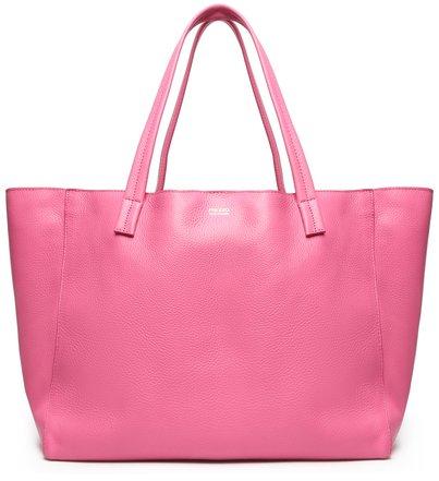 Bolsa Shopping de Couro Maxi Bag Rosa Fio