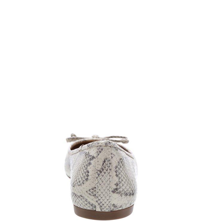 Sapatilha Snake Tiny Bow Porcelana