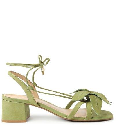 Sandália Verde Nobuck Bloco Lily