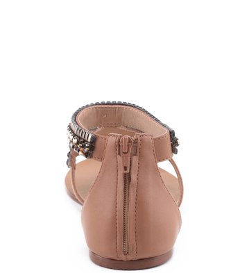 Rasteira Mini Pedraria Blush