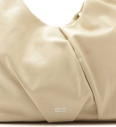 Bolsa Hobo Couro Caroline Grande Off-White