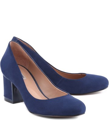 Scarpin Nobuck City Navy