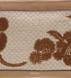 Clutch Tiracolo Pequena Paty Natural Tan