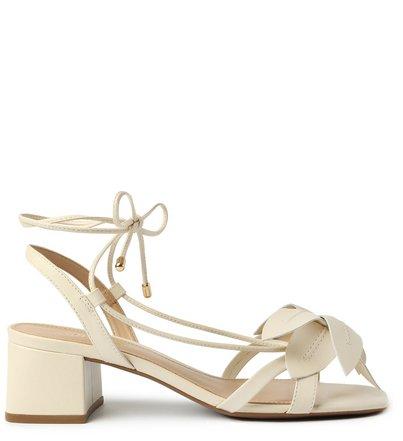 Sandália Off-White Couro Bloco Lily