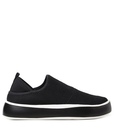 Slip On Preto ZZ Now Knit Sola Alta