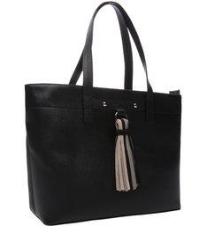 Bolsa Shopping Emily Grande Preta