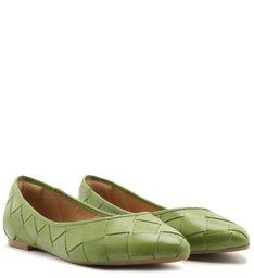Sapatilha Verde Maxi Tressê Bico Fino Gaia Green