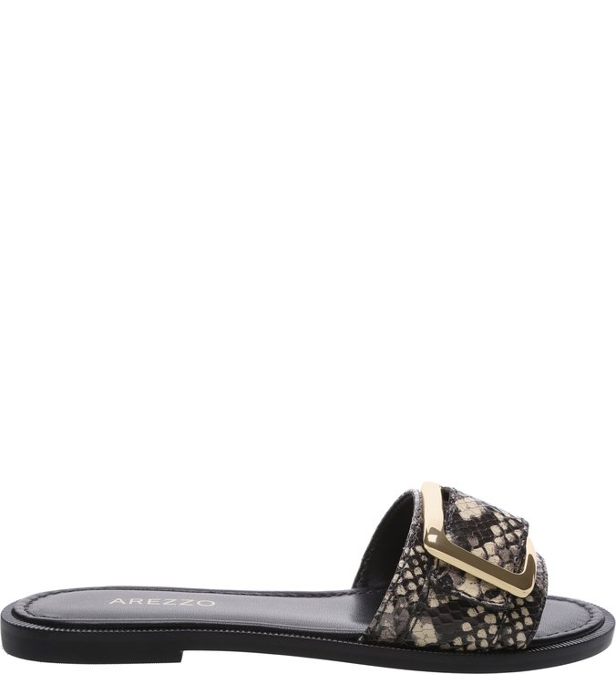 Chinelo Animal Print Snake Fivela