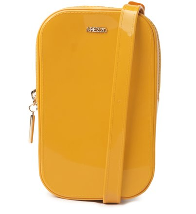 Mini Bolsa Amarela Duda Porta-Celular Brizza