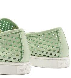 Tênis Slip On Feminino Furadinho Baby Green