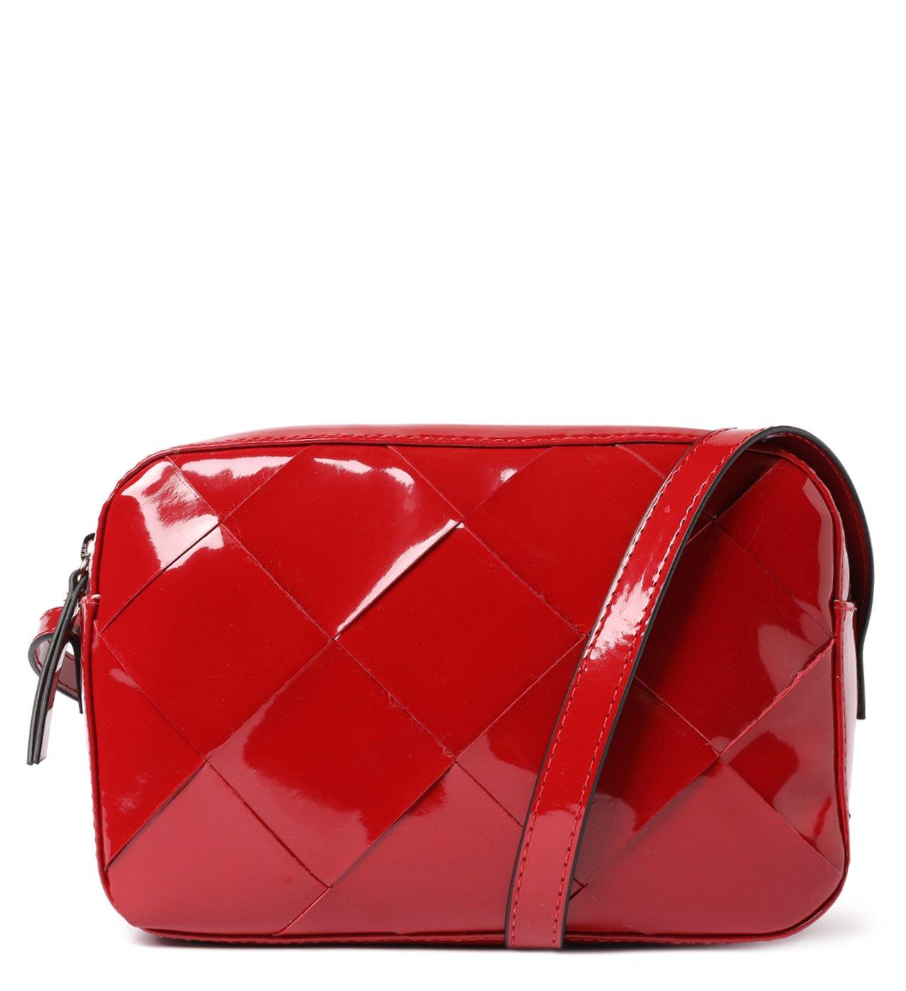 Bolsa Tiracolo Vermelha Verniz Érica Pequena | Arezzo