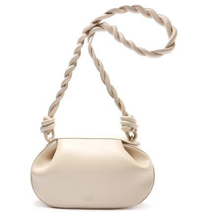 Bolsa Tiracolo Off-White Couro Margot Média