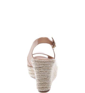 Sandália Plataforma Verniz  Pump Nude Vintage