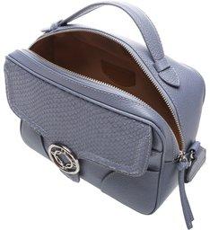 Bolsa Tiracolo Pequena Couro Carol Stone Blue