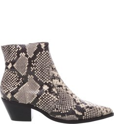 Ankle Boot Couro West Snake