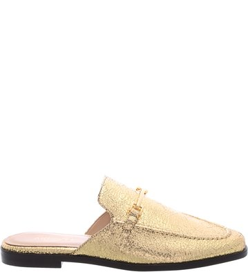 Mule Flat Vintage Gold Little Metal | Arezzo