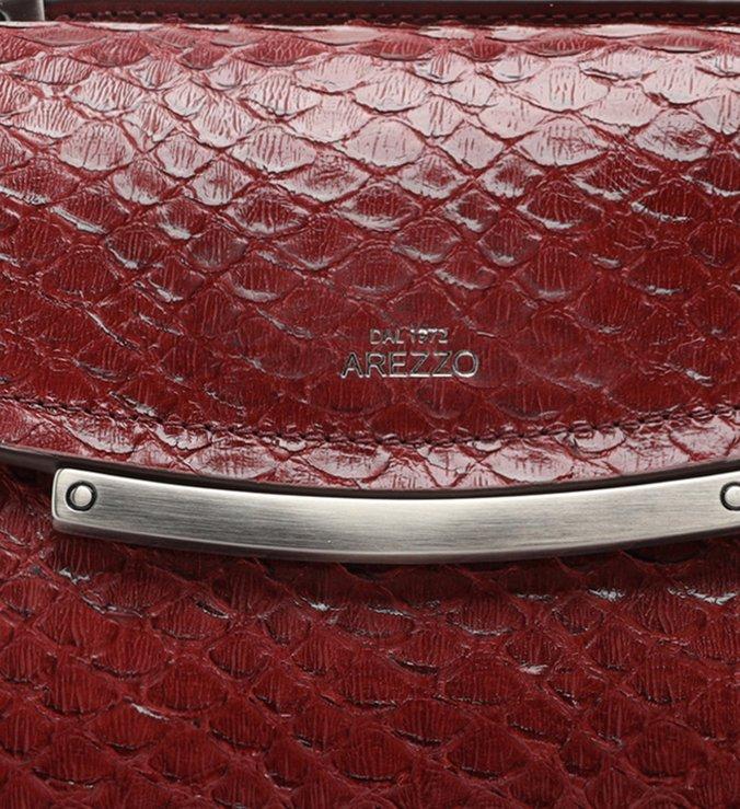 Bolsa Satchel Vermelha Snake Clara Pequena