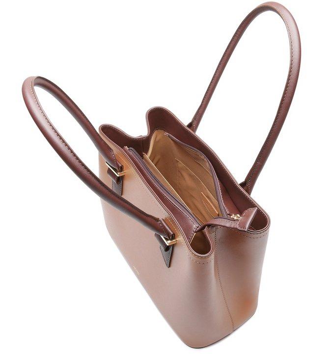 Bolsa Shopping Marrom Eva Grande Pale Nut