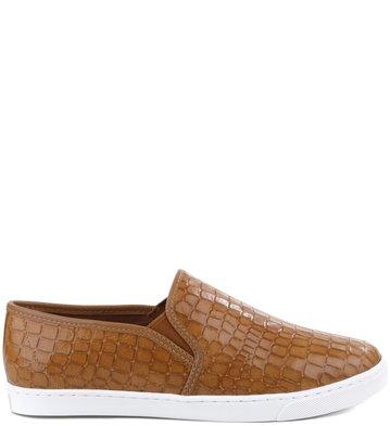 Slip-on Croco Camel