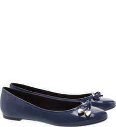 Sapatilha Verniz Ponteira Navy Blue Navy Blue