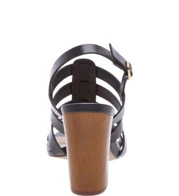 Sandália Salto Wood Preta