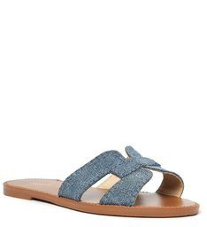 Chinelo Rasteiro H Jeans
