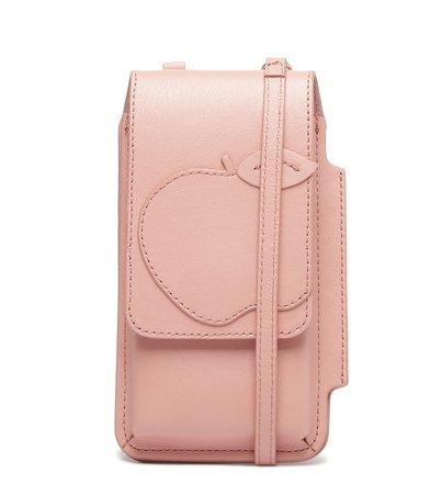 Mini Bolsa Porta-Celular Rosé Couro Nina