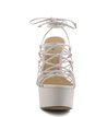 Plataforma Glam Lace-Up Off-White