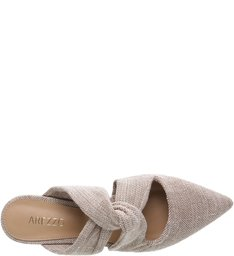 Mule Recorte Lace Up Natural